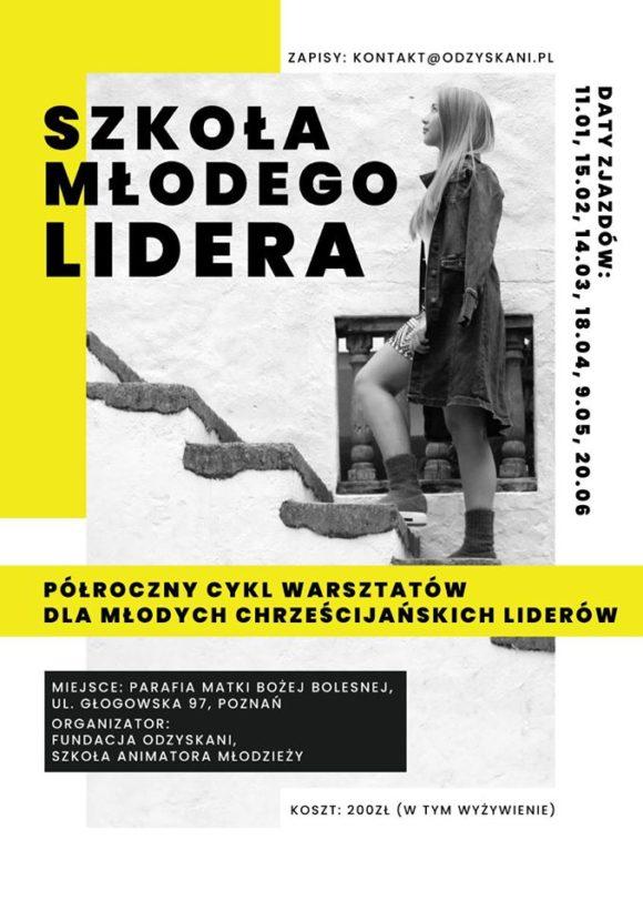 Szkoła Młodego Lidera - Fundacja Odzyskani - plakat